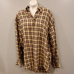 Nautica Yellow/Green Checkered Shirt